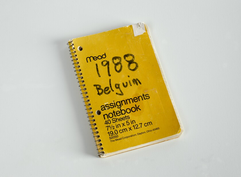 New Belgium Brewing grew out of this notebook, filled with observations by Jeff Lebesch from a 1988 trip.