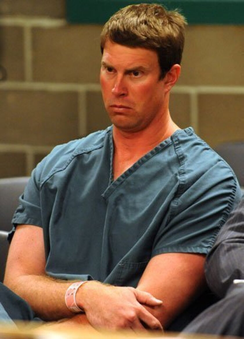 Ryan Leaf appears in Whatcom County Superior Court in Bellingham, Washington, in 2009 after being arrested by U.S. Customs agents while trying to enter the United States from Canada. Leaf was wanted in Texas on drug and burglary charges.