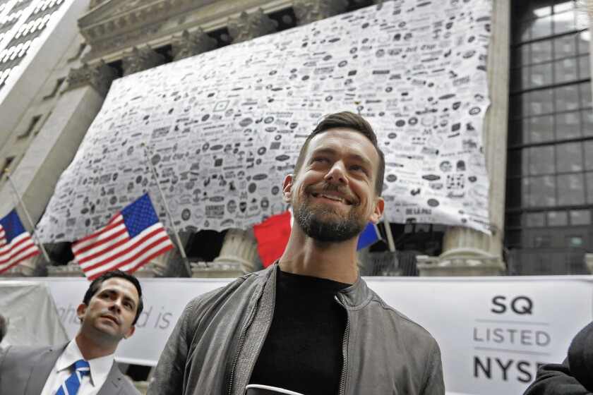 San Francisco-based payments company Square Inc. was priced at $9 a share at its November launch, lower than the expected range of up to $13. Although the shares did shoot up 45% to $13.07 in the first day of trading, they had drifted down to $12.60 as of Thursday. Above, Square CEO Jack Dorsey.