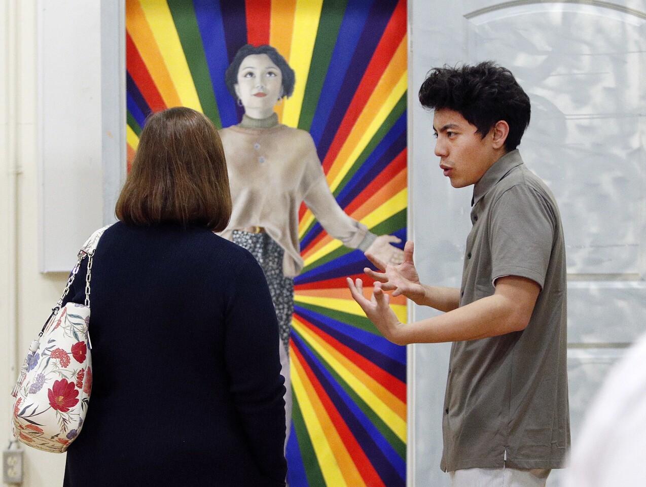 Photo Gallery: PRIDE art gallery opens at Crescenta Valley High School