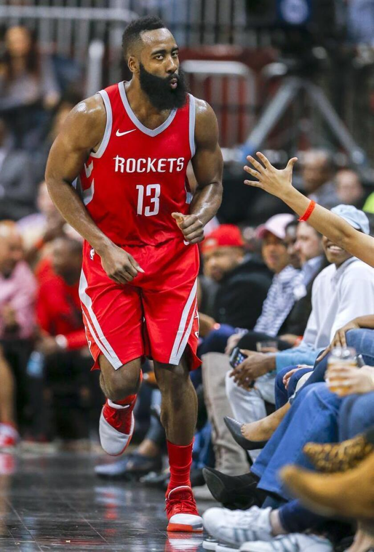 James Harden, de los Houston Rockets, durante un partido de la NBA. EFE/Archivo