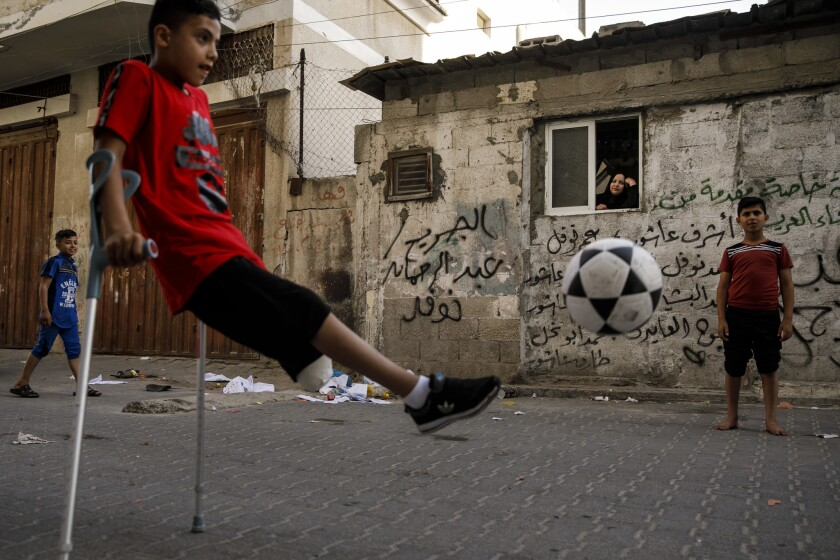 Wounded Gazan boy
