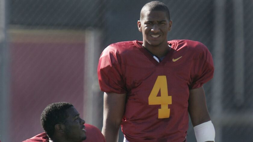 Kevin Ellison at a USC football practice on Aug. 15, 2006.