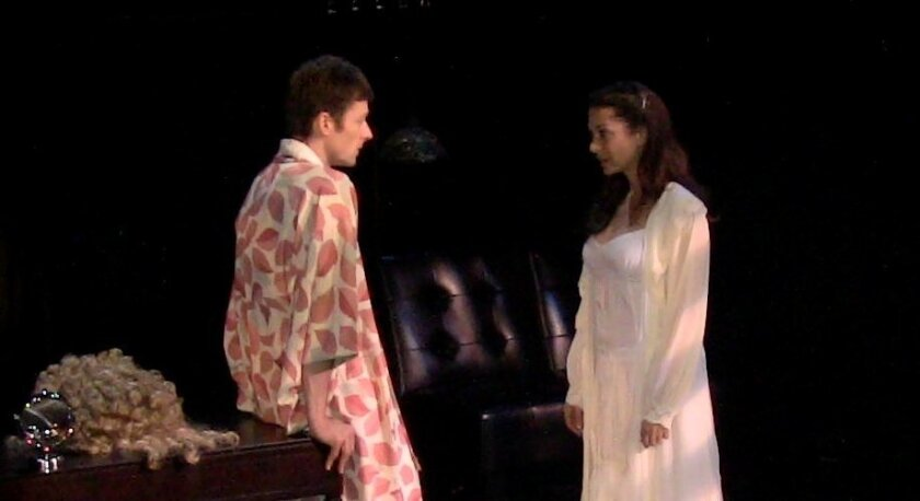 """Kyle Sorrell & Jessica John Gercke in Ion Theatre's """"Angels in America."""""""