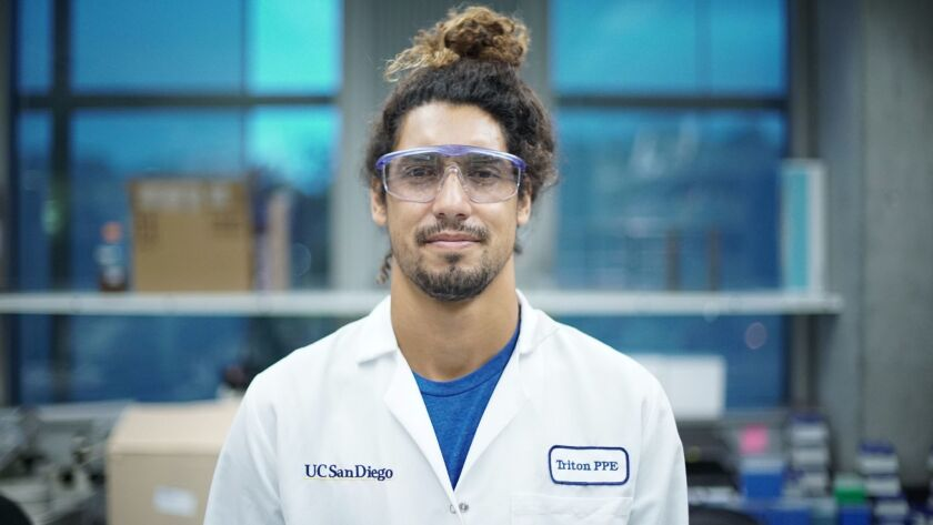 UCSD chemistry student Cliff Kapono plans to finish his Ph.D. thesis on surfer's biome by the summer