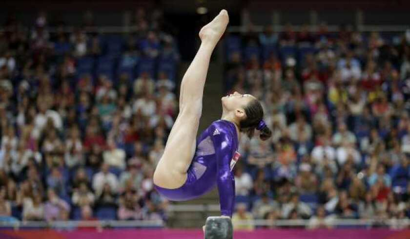 U.S. women's gymnastics team increases lead after balance beam
