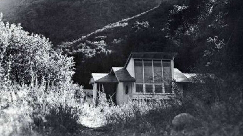 BIG VIEW: Arts patron Huntington Hartford bought about 150 acres in Rustic Canyon as a colony site.