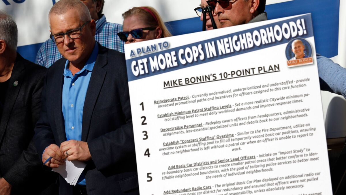 L A  officials ask LAPD to find ways to put more officers on