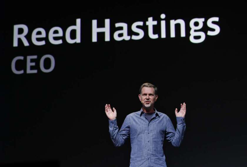 Netflix Chief Executive Reed Hastings has a big appetite for Hollywood content.