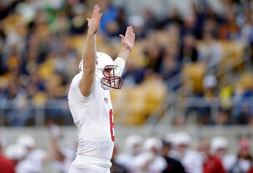 Stanford quarterback Kevin Hogan has passed for 2,369 yards and 15 touchdowns with eight interceptions. He's also scored five touchdowns on 199 rushing yards.