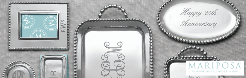 Warwick's offers the elegance of engraved metal-craft from the artisans at Mariposa.
