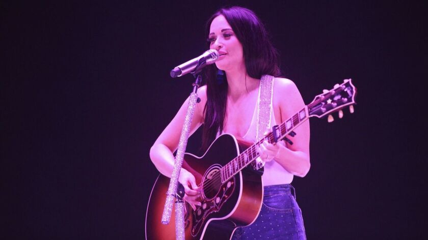 CEDAR RAPIDS, IOWA:Kacey Musgraves performs onstage at the U.S. Cellular Center in Cedar Rapids, Iow
