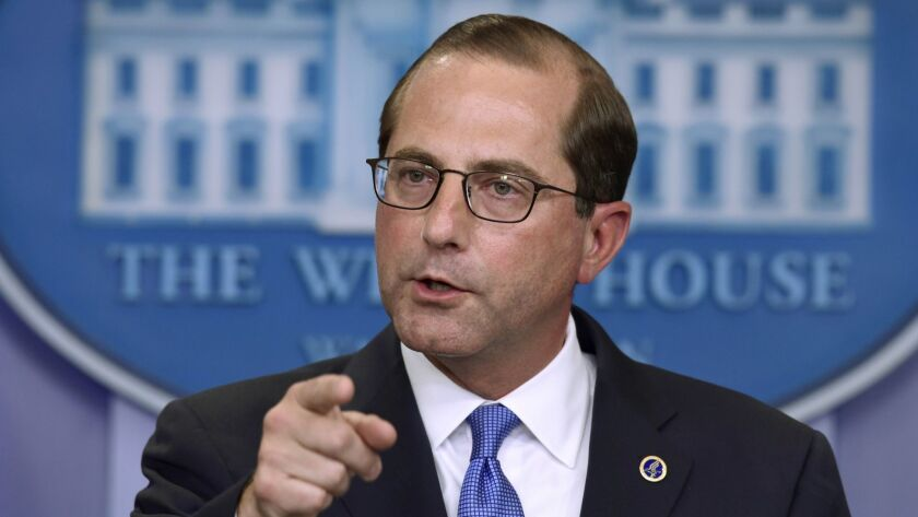 Following the president's orders to undermine women's health: Alex Azar, secretary of Health and Human Services