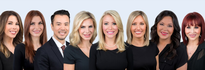 Shown here is the team of experienced medical professionals available to deliver top-quality cosmetic services at La Jolla Cosmetic Medical Spa.