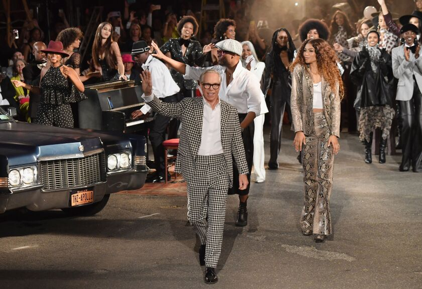 Tommy Hilfiger and Zendaya at the Tommy X Zendaya fashion show finale