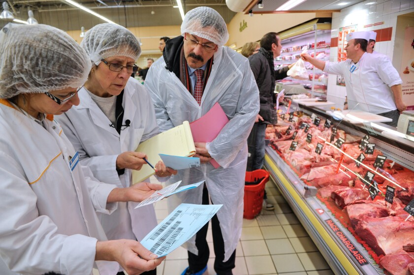 A Europe-wide food fraud scandal over horse meat sold as beef emerged in mid-January when Irish authorities found traces of horse in beef burgers made by firms in Ireland and Britain and sold in supermarket chains including Tesco and Aldi.
