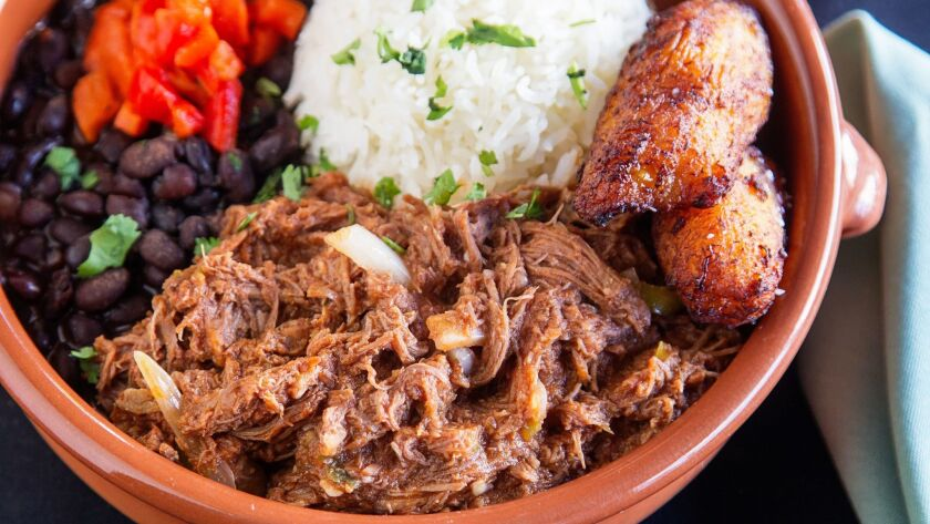 SAN DIEGO, CA November 1st, 2017 | This is the Ropa Vieja dish at Havana 1920 restaurant on Wednesda