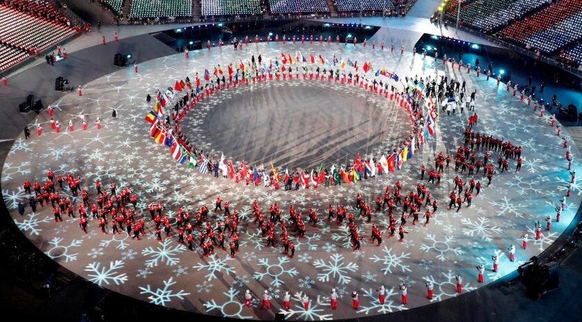 Closing Ceremony at the Pyeongchang Olympics.