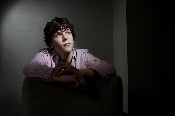 """Jesse Eisenberg plays the socially awkward genius who created Facebook in """"The Social Network."""" He's photographed in Santa Monica. RELATED: Celebrities by the Times in 2011 Celebrities by the Times in 2010 Celebrities by the Times in 2009"""