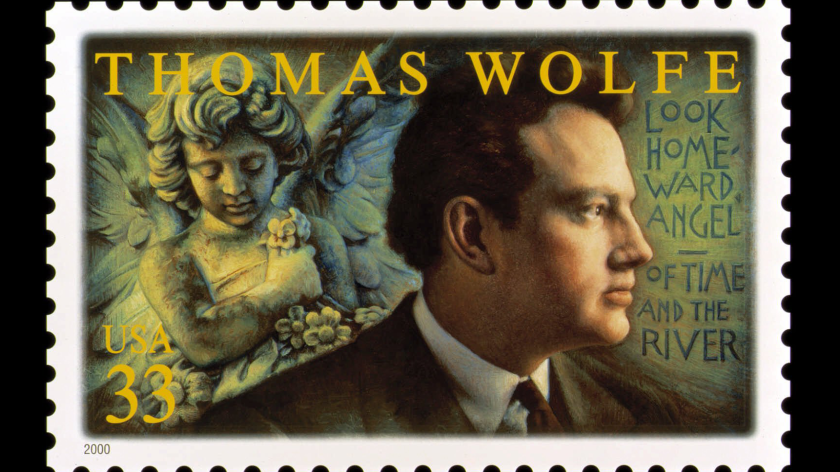 Thomas Wolfe was commemorated on a U.S. postage stamp in 2000
