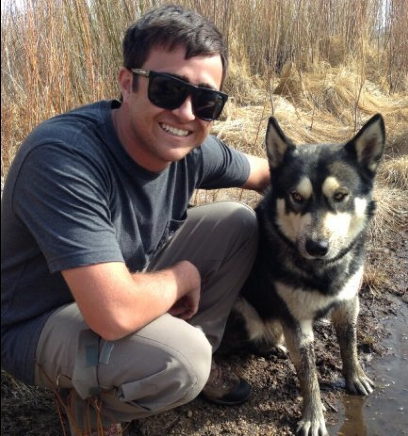 Lee Pattison and his dog, Bolt.