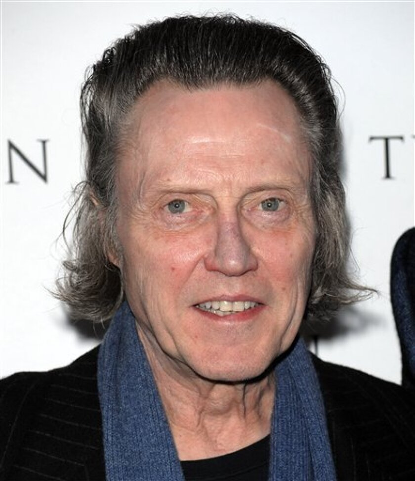 """FILE - In this April 20, 2009 file photo, actor Christopher Walken attends a special screening of Sony Picture Classics' """"Tyson"""" in New York. (AP Photo/Evan Agostini, file)"""