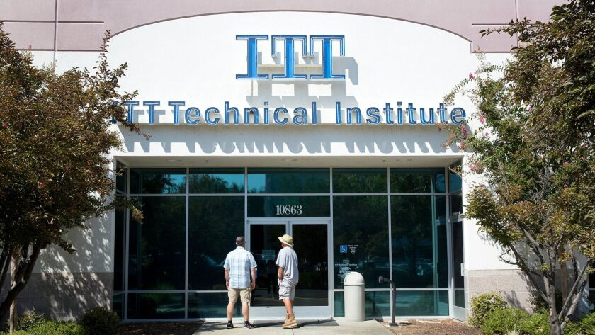 ITT Technical Institute campuses, including this one in Rancho Cordova, Calif., abruptly closed in September.