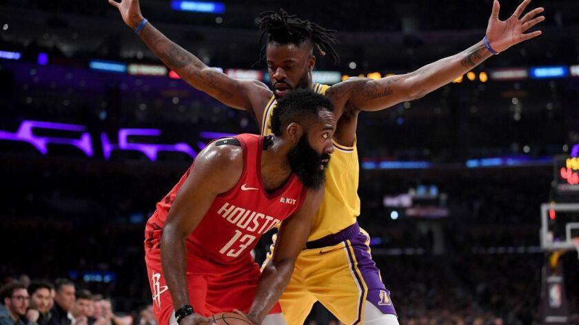 online retailer d6dbe 77c42 Reggie Bullock makes his mark during Lakers' win over ...