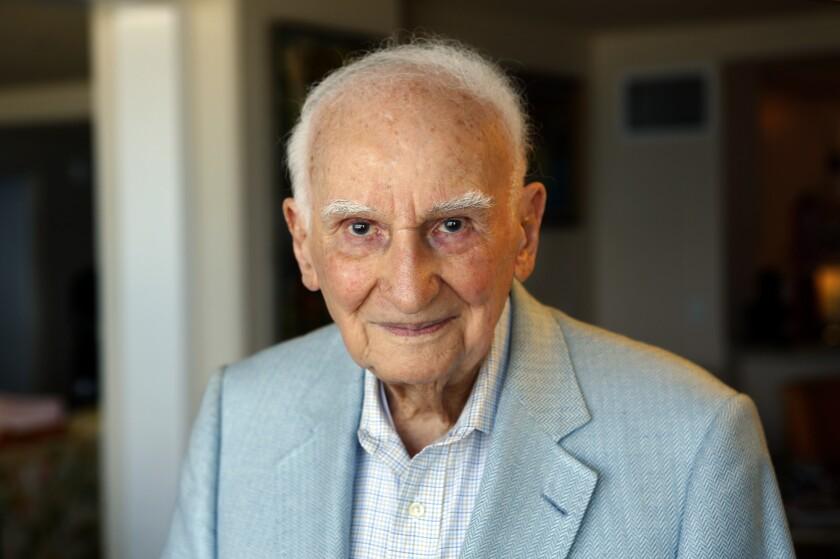 Simon Ramo, the father of the U.S. ICBM program, at his home in Santa Monica on June 4, 2014.