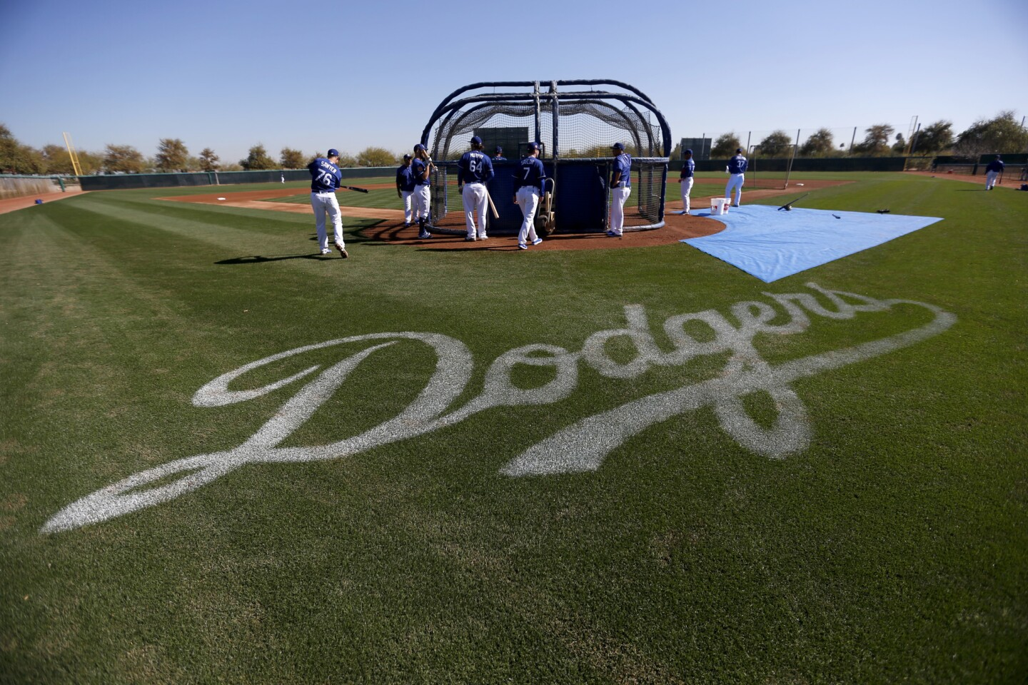 The Dodgers get ready for the grueling 162-game regular season (and, they hope, a long and victorious postseason) during spring training at Camelback Ranch in the Phoenix suburb of Glendale.