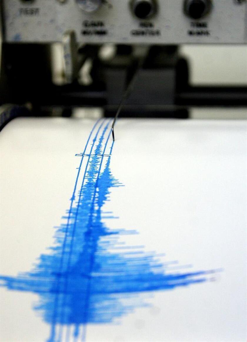 Fotografía de una lectura del sismógrafo. Puerto Rico registró una disminución de 20,7 % en sismos ocurridos para el recién concluido año 2017 en comparación con el 2016, informó hoy la Red Sísmica de Puerto Rico (RSPR). EFE/Archivo