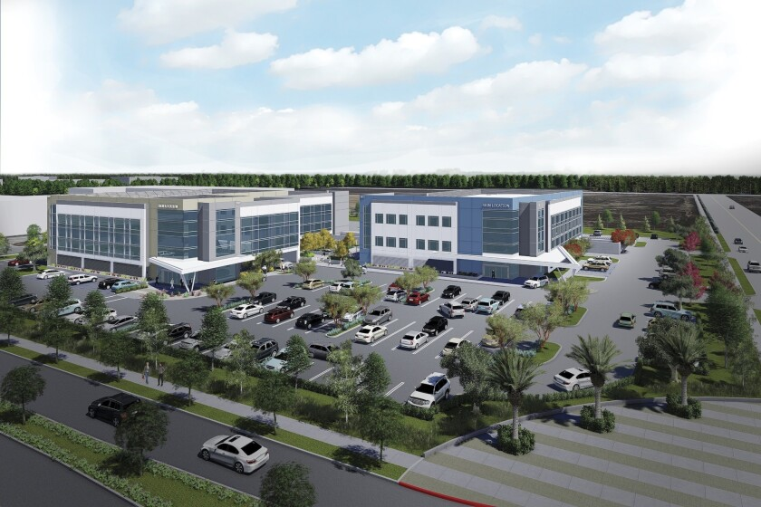 Douglas Park Medical Office Park is being built at 3833 Worsham Ave., Long Beach.