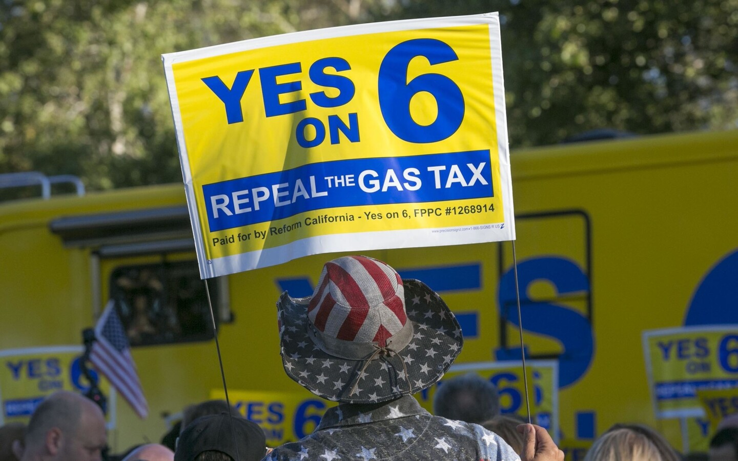 Yes on Prop 6 rally
