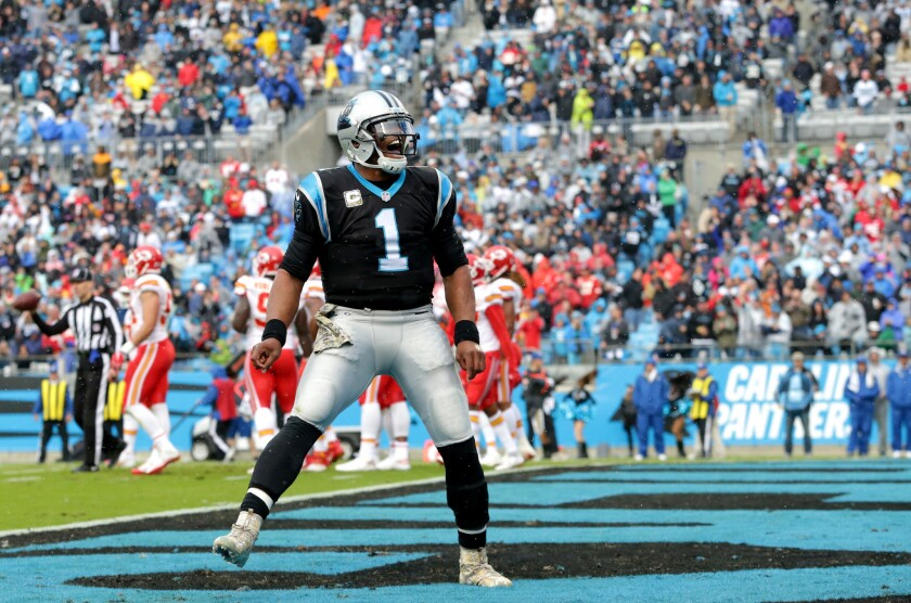 on sale 799b5 83cfc Cam Newton says NFL players are 'owed' chance to celebrate ...
