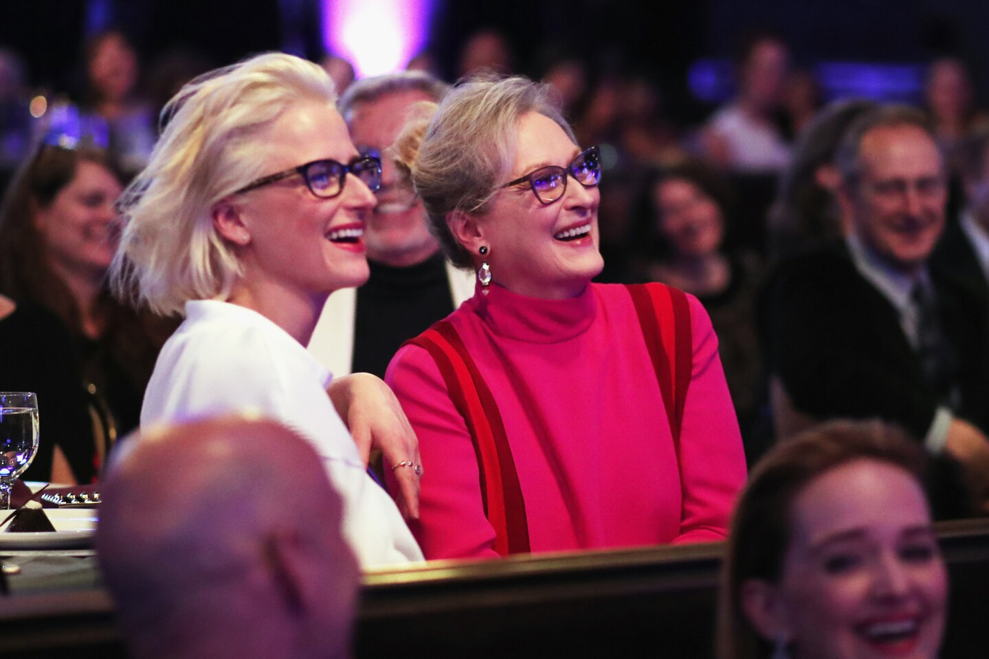Mamie Gummer and her mother, honoree Meryl Streep, attend the 19th Costume Designers Guild Awards.