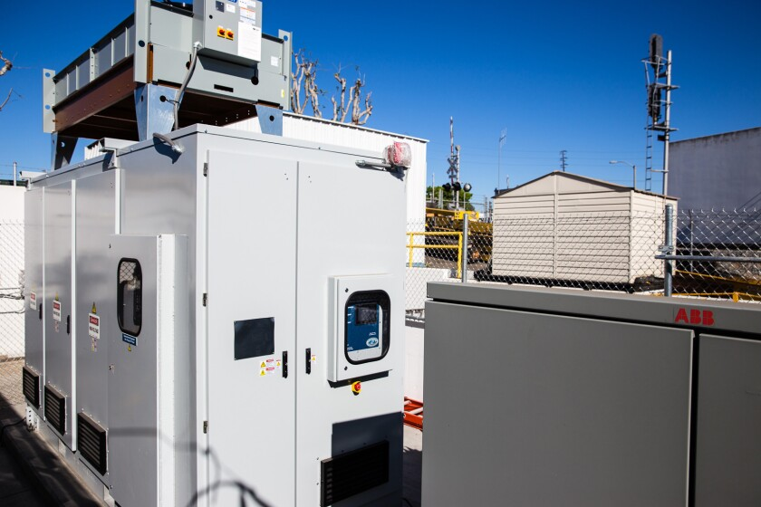 Southern California Edison plans to spend $12 billion over the next three years to prepare for more modern technologies, such as this lithium-ion battery technology by NEC Energy Solutions, which helps provide more reliable electricity to the grid.
