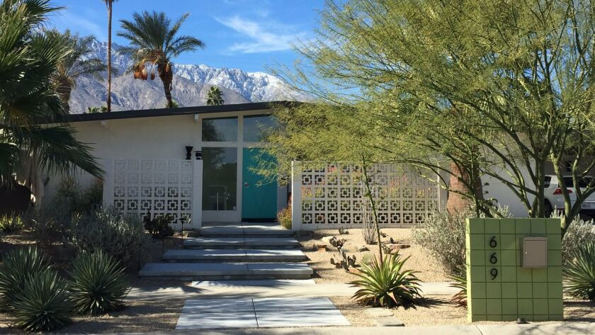 Homeowners Keith Zabel and Randy Shemaitis renovated their 1960 tract home built by developer Jack Meiselman in Palm Springs to reflect its Midcentury roots. It will be open to the public during Modernism Week.