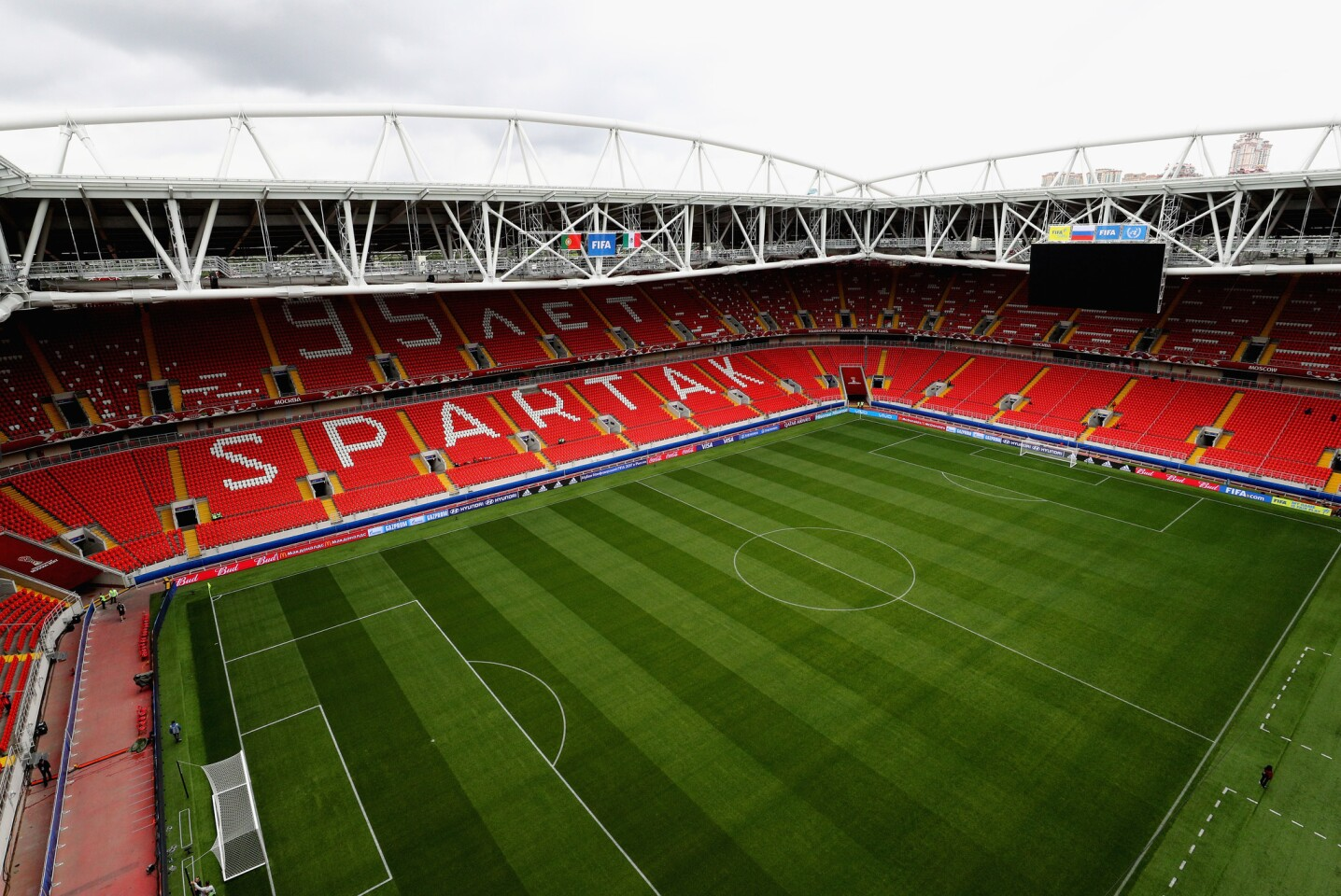 MOSCOW, RUSSIA - JULY 02: General view inside the stadium prior to the FIFA Confederations Cup Russia 2017 Play-Off for Third Place between Portugal and Mexico at Spartak Stadium on July 2, 2017 in Moscow, Russia. (Photo by Ian Walton/Getty Images)