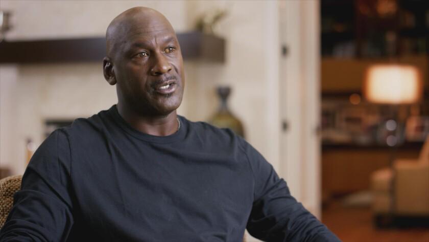 "Michael Jordan in ""The Last Dance."""