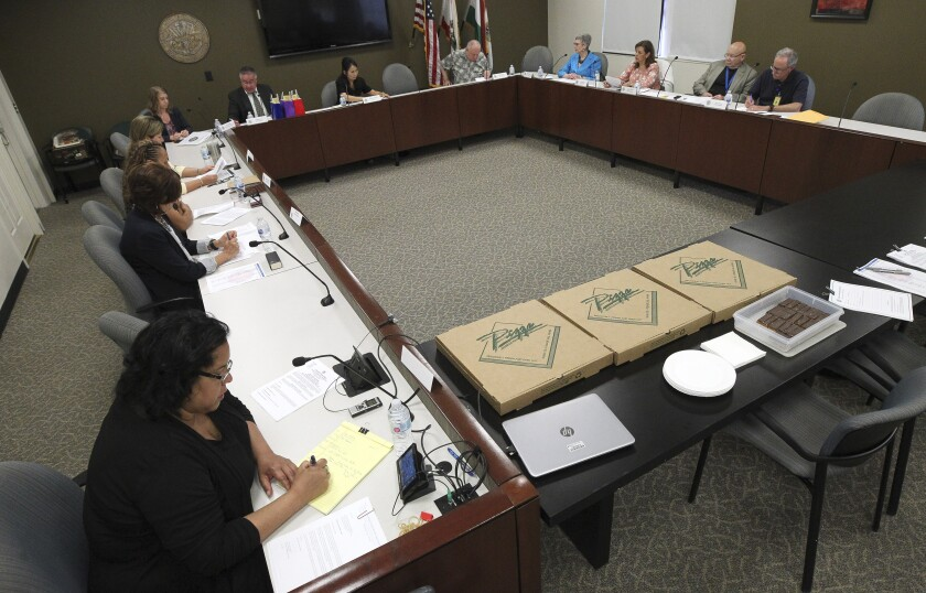 A meeting of the County of San Diego Citizen's Law Enforcement Review Board in 2019
