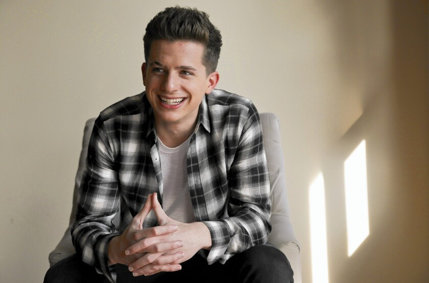 Singer-songwriter Charlie Puth at home on Jan.14, 2016.