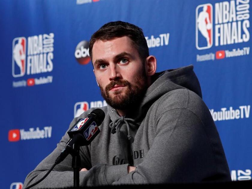 Kevin Love, jugador de Cleveland Cavaliers. EFE/Archivo