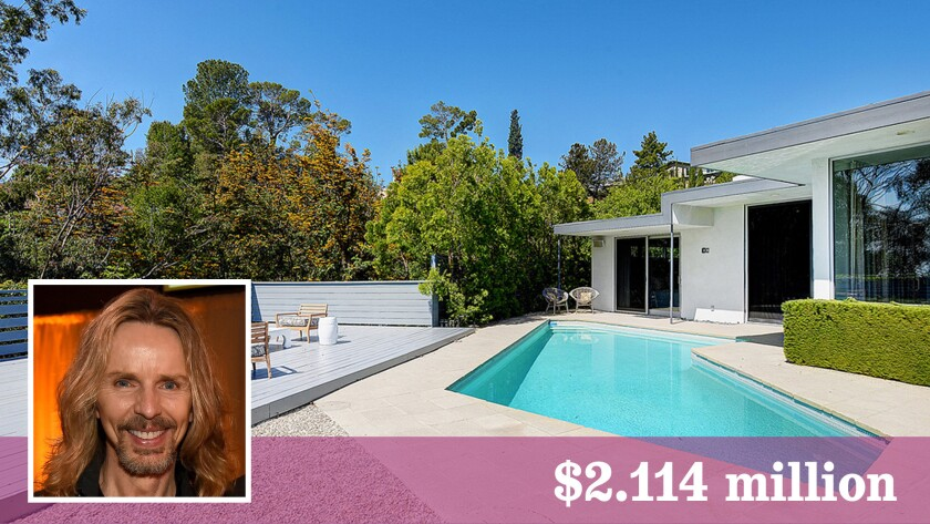 Styx guitarist Tommy Shaw has sold a Midcentury Modern home in Hollywood Hills for $2.114 million.