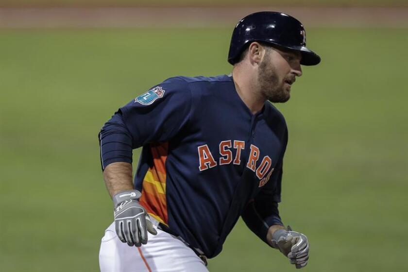 Tyler White de los Astros de Houston. EFE/Archivo