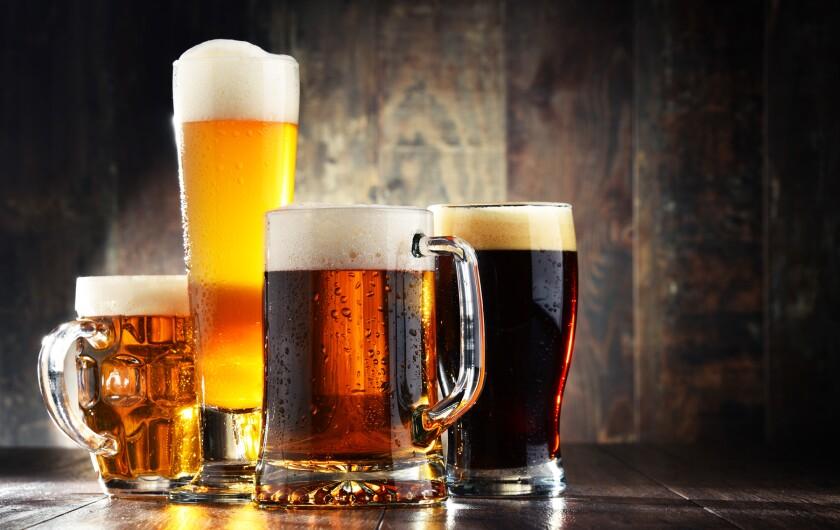 a variety of beers