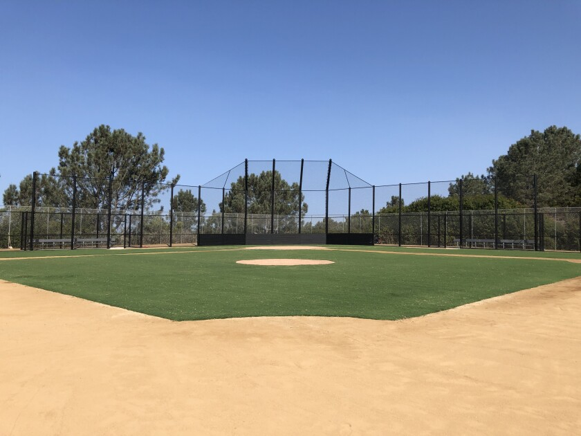 The new field at Torrey Hills School.