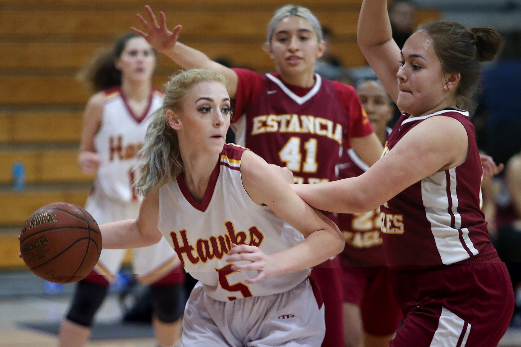 Estancia Christmas Basketball Tournament 2020 Helen Reynolds leads Ocean View girls' basketball past Estancia in