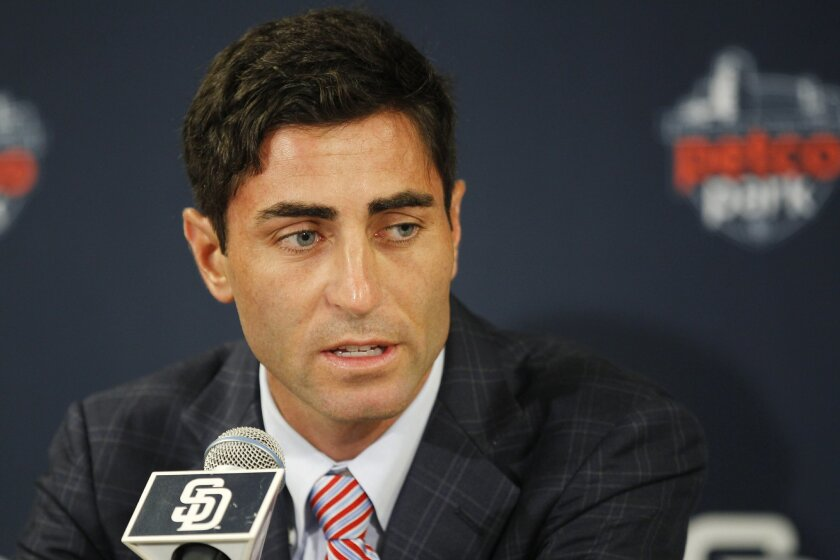 The Padres announced A.J. Preller has been named executive vice president/general manager.