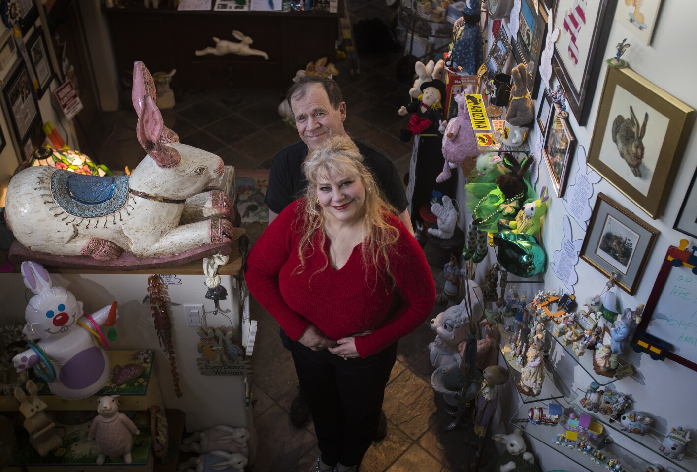 Candace Frazee and her husband, Steve Lubanski, started the Bunny Museum in 1998. Now, there are more than 35,000 rabbit-related items at their spot in Altadena.
