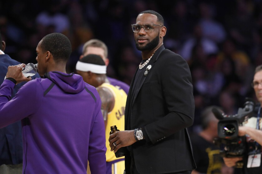 Lakers forward LeBron James played in 55 games this season, which ended for the 15-time All-Star on March 30